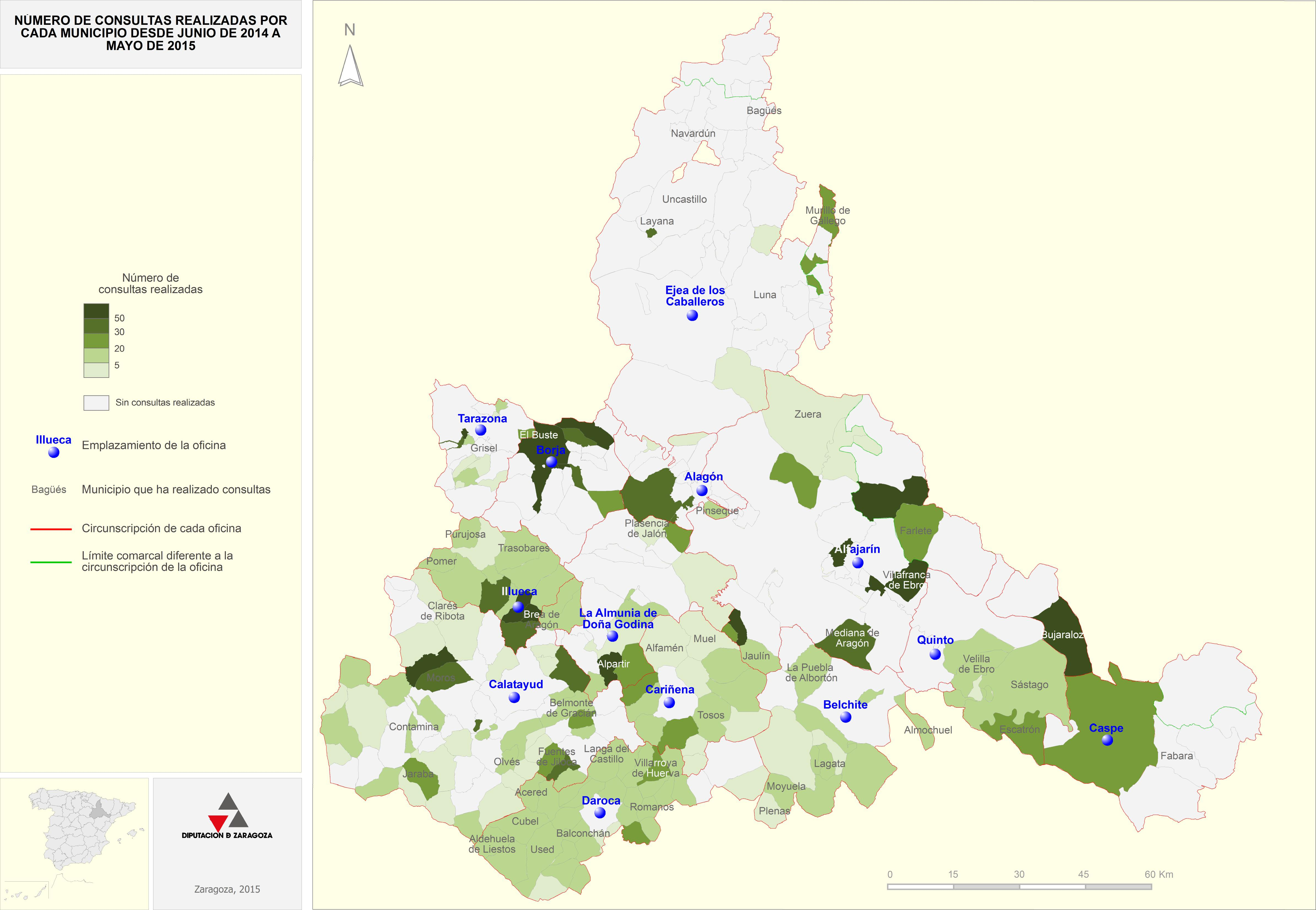 Mapa consultas totales por municipio 14-15