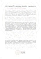 Declaración Global Schools Zaragoza.