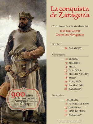 Agotadas las invitaciones para la conferencia teatralizada de mañana jueves en Zaragoza por el IX centenario de la conquista de la ciudad