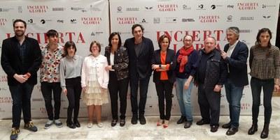 Agustí Villaronga presenta en la Diputación de Zaragoza 'Incierta gloria', una película sobre la Guerra Civil ambientada en el frente de Aragón