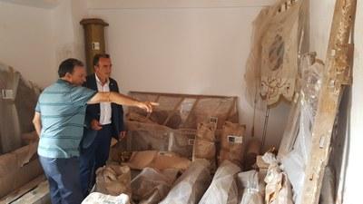 Bijuesca solicita la restauración del retablo de la Virgen del Castillo