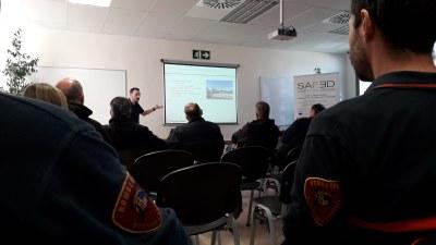 Bomberos de la Diputación de Zaragoza, de Chipre y de Grecia comparten varios talleres formativos dentro del proyecto europeo Safed