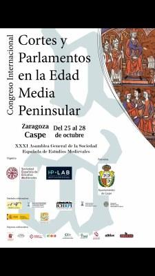 Caspe acoge desde hoy el I Congreso Internacional sobre Cortes y Parlamentos de la Edad Media Peninsular