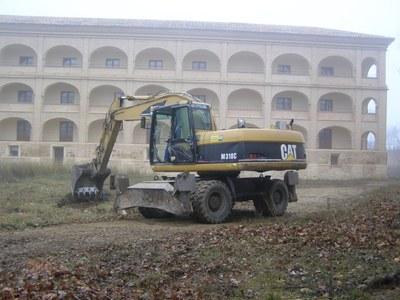 Comienzan las obras para terminar de construir el parador de Veruela
