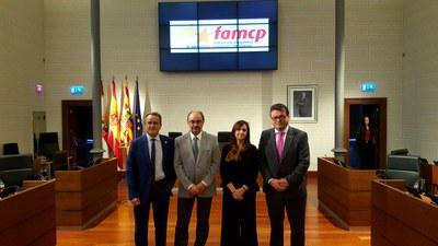 Consejo extraordinario de la Famcp en la Diputación de Zaragoza para elegir a Luis Zubieta como nuevo presidente