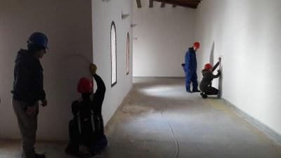 Dieciséis alumnos se forman en la quinta edición del taller de empleo con el que la DPZ rehabilita el palacio abacial de Veruela