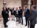 El director general de Bellas Artes del Ministerio de Cultura visita las exposiciones de la DPZ sobre Rafael Moneo y la Bauhaus