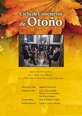 El grupo instrumental de la DPZ ofrece dos conciertos en Zaragoza con motivo de la festividad de Santa Cecilia