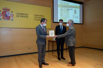 El ministro Pedro Duque presenta la colección 'Técnica e ingeniería en España', coeditada por la Institución Fernando el Católico de la DPZ