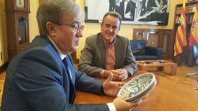 El nuevo Justicia de Aragón comparte sus retos con Sánchez Quero