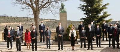 Los Reyes visitan Fuendetodos en el acto central del 275 aniversario del nacimiento de Goya