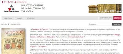 La biblioteca virtual de la Diputación de Zaragoza ofrece ya más de 180.000 páginas digitalizadas de 1.563 libros y documentos antiguos