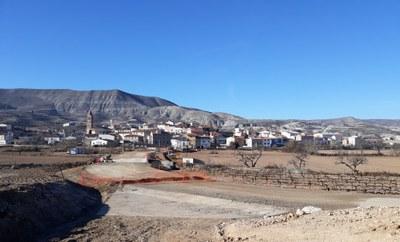 La carretera de acceso a Orera y Ruesca seguirá cortada hasta el 30 de marzo por las obras de arreglo que ejecuta la DPZ