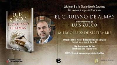 La Diputación de Zaragoza acoge este miércoles la presentación de la última novela del escritor borjano Luis Zueco