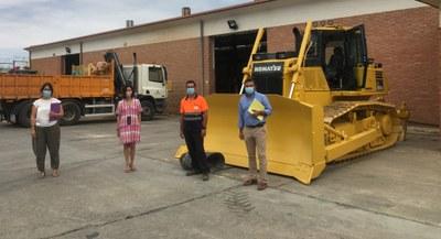 La Diputación de Zaragoza amplía su parque de maquinaria con la adquisición de una nueva excavadora buldócer
