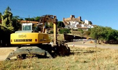 La Diputación de Zaragoza comienza el arreglo de la carretera de acceso a Trasmoz, que queda cortada al tráfico desde hoy