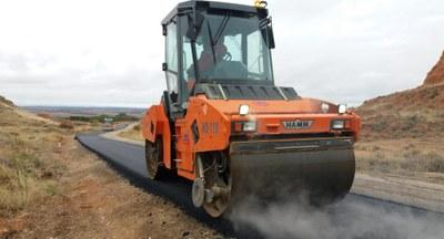 La Diputación de Zaragoza comienza las obras de mejora del firme de la carretera provincial que conecta Ariza y Bordalba
