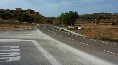 La Diputación de Zaragoza concluye el arreglo de la carretera provincial que conecta Torrehermosa y Alconchel de Ariza