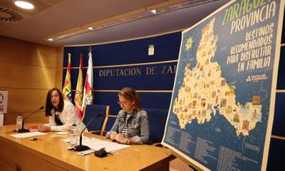 La Diputación de Zaragoza edita un mapa didáctico para acercar a los escolares los atractivos turísticos de la provincia