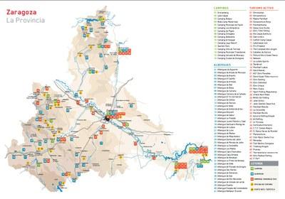 La Diputación de Zaragoza edita una guía sobre las empresas de turismo activo, los campings y los albergues de la provincia