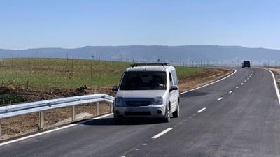 La Diputación de Zaragoza finaliza el arreglo de la carretera que conecta Tauste y Castejón de Valdejasa, la CV-607