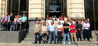La Diputación de Zaragoza guarda un minuto de silencio por la mujer asesinada en el barrio de Casablanca