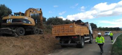 La Diputación de Zaragoza inicia el arreglo de la carretera de acceso a Grisel, que tiene un presupuesto de 598.000 euros