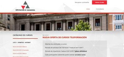 La Diputación de Zaragoza mantiene su apuesta por la teleformación con 48 cursos gratuitos para los vecinos de la provincia