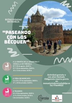 La DPZ pone en marcha 'Paseando con los Bécquer', un programa de visitas interactivas familiares en el entorno de Veruela