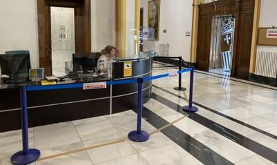 La Diputación de Zaragoza reabre hoy sus puertas al público con condiciones para el acceso de los visitantes