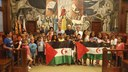 La Diputación de Zaragoza recibe a los niños saharauis que pasan el verano en Aragón gracias al programa Vacaciones en Paz