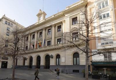 La Diputación de Zaragoza restringe el acceso de los ciudadanos a todas las dependencias de la institución