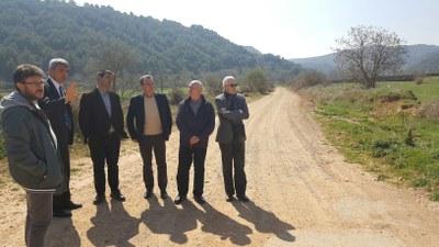 La Diputación de Zaragoza saca a concurso la construcción de la carretera que conectará Anento y la localidad turolense de Báguena