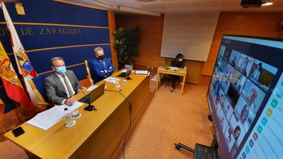 La Diputación de Zaragoza se compromete a seguir apoyando a las pymes y los autónomos del sector cultural y de la hostelería