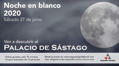 La Diputación de Zaragoza se suma a la celebración de la Noche en Blanco con visitas guiadas al palacio de Sástago