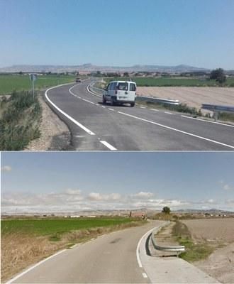 La Diputación de Zaragoza termina el arreglo de la carretera de acceso a Novillas