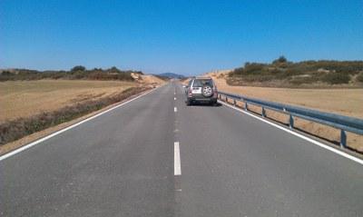 La Diputación de Zaragoza termina el arreglo de la carretera provincial que conecta Castiliscar y Sofuentes, la CV-621