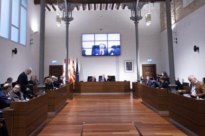 La DPZ aprueba una modificación para adaptar el presupuesto a las ayudas solicitadas por los municipios dentro del plan de barrios y el Pimed