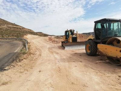 La DPZ comienza las obras para mejorar un tramo de curvas cerradas en la carretera provincial que conecta Bujaraloz y Alborge