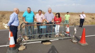La DPZ estudia alternativas para reabrir el acceso a Boquiñeni por Luceni