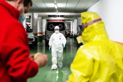 La DPZ prolonga hasta el 21 de febrero la exposición sobre la labor de Cruz Roja contra el covid que puede verse en la sala 4º Espacio