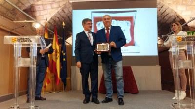 La DPZ recibe la Placa al Mérito de Protección Civil por su labor en la gran riada del Ebro de abril del año pasado