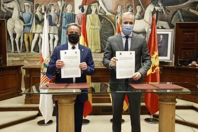 La DPZ y el Ayuntamiento de Zaragoza firmarán un nuevo convenio sobre barrios rurales y prestación de servicios para la provincia