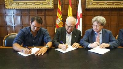 La DPZ y la UTE Tauroejea 2009 y Circuitos Taurinos SL firman el contrato de gestión de la plaza de toros