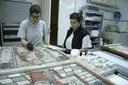 La escuela taller de restauración de la Diputación de Zaragoza recupera el retablo de la ermita de Santa Ana de Orera