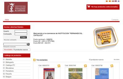 La Institución Fernando el Católico de la DPZ reabre su tienda virtual, en la que pueden adquirirse unos 1.200 libros y revistas