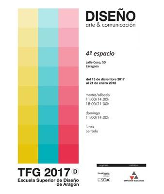 La sala 4º Espacio de la DPZ inaugura esta tarde una exposición de los trabajos de fin de grado de la Escuela Superior de Diseño de Aragón