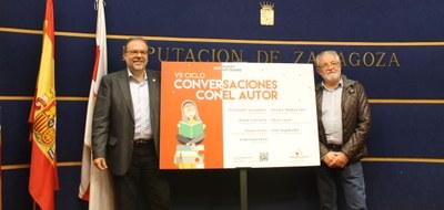 La VII edición del ciclo 'Conversaciones con el autor' de la DPZ llevará siete escritores de prestigio a once municipios zaragozanos