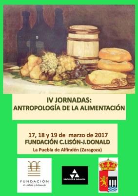 Las IV Jornadas de Antropología de La Puebla de Alfindén abordarán el fenómeno de la alimentación del 17 al 19 de marzo