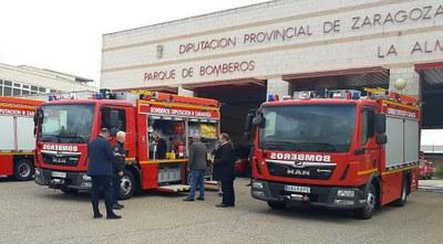 Los bomberos de la Diputación de Zaragoza incorporan otros tres nuevos camiones más ligeros y versátiles que los anteriores